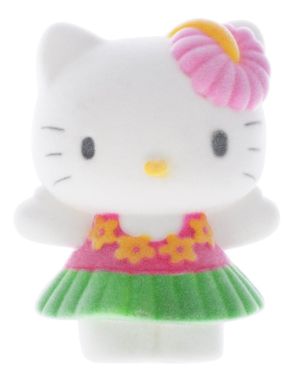 Играем вместе Фигурка Hello Kitty цвет белый розовый зеленый2R-FLK_белый,розовый,зеленыйПрелестная фигурка Играем вместе Hello Kitty непременно понравится всем любительницам анимационного сериала Hello Kitty. Милая кошечка одета в розовую кофту и зеленую юбочку. Фигурка имеет флокированное покрытие, благодаря которому она необычайно бархатиста на ощупь. Благодаря маленьким размерам фигурки ваша малышка сможет брать ее с собой на прогулку или в гости. Порадуйте ее таким замечательным подарком!