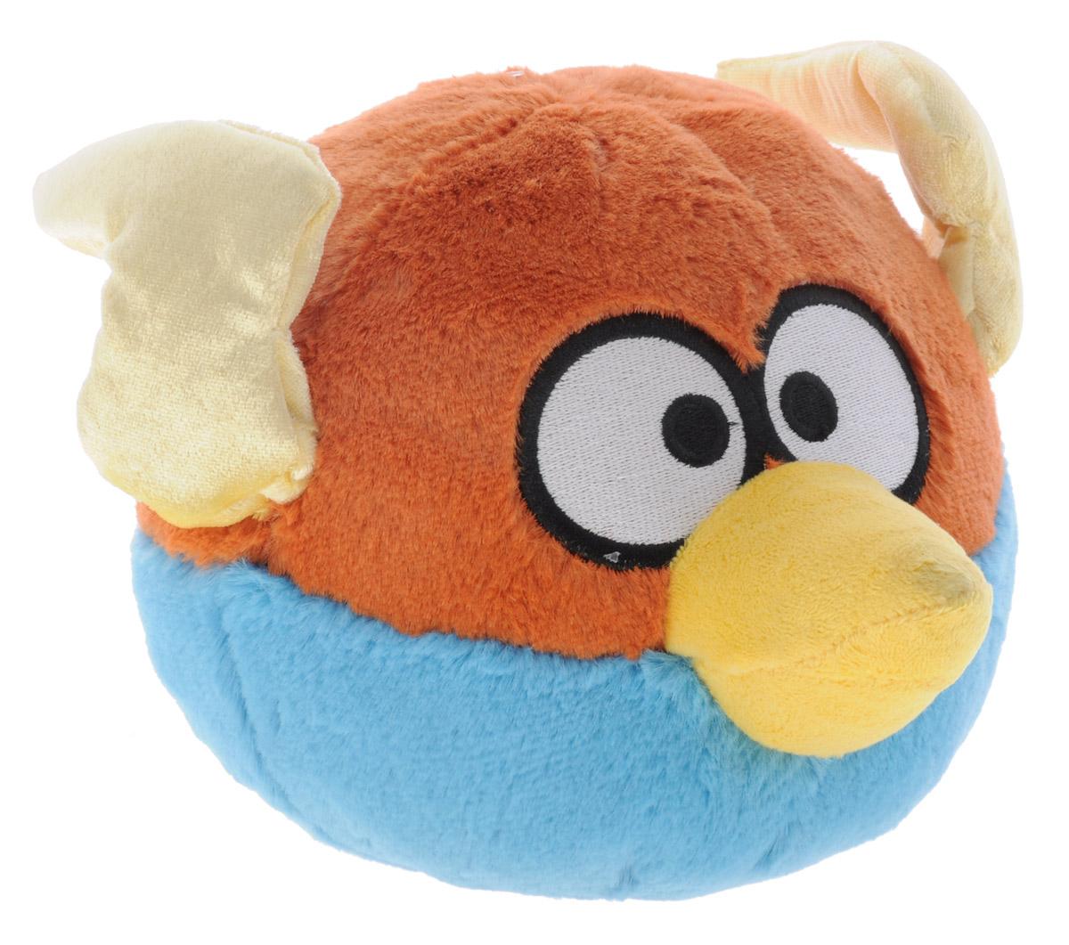 Angry Birds Мягкая озвученная игрушка цвет коричневый голубой 14 см92670_коричневый,голубойМягкая озвученная игрушка Angry Birds подарит вашему ребенку много радости и веселья. Удивительно приятная на ощупь игрушка выполнена в виде птички - персонажа популярной игры Angry Birds. При нажатии на кнопку, расположенную на макушке, игрушка начинает смеяться и издавать забавные звуки. Чудесная мягкая игрушка непременно поднимет настроение своему обладателю и станет замечательным подарком к любому празднику. Игрушка работает от незаменяемых батареек.