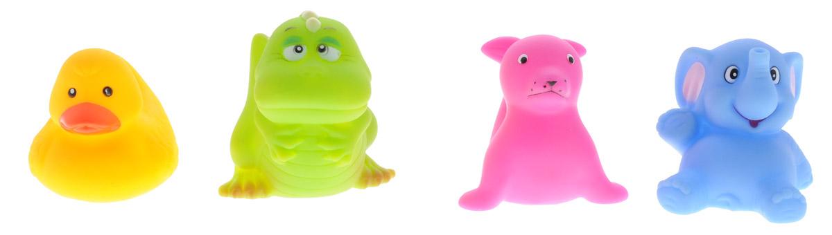 BabyOno Набор игрушек для ванной Маленькие животные 4 шт866Набор игрушек для ванной BabyOno Маленькие животные - это утка, слоник, дракон и тюлень - четверо друзей, которые очень любят воду. Игрушки сделают приятным каждое купание, а благодаря интенсивным цветам легко отыщутся даже под толстым слоем пены. Игрушки для ванной учат различать цвета и формы, дают ребенку возможность наблюдать за поведением предметов в воде. Игрушки небольшие по размеру, благодаря чему легко захватываются маленькими ручками. Набор игрушек для ванной BabyOno Маленькие животные изготовлен из качественных и безопасных материалов и упакован в практичную пластиковую сумку с ручками, закрывающуюся на замок-молнию. Товар сертифицирован.