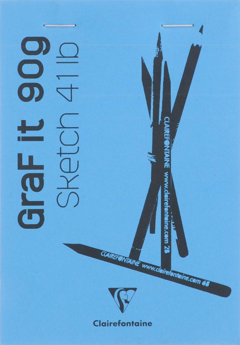 Clairefontaine Блокнот для рисования Graft It 80 листов цвет голубой96619_голубойClairefontaine - французская компания, выпускающая канцелярские товары, тетради и блокноты с 1858 года. Блокнот Clairefontaine Graft It идеален для рисования, эскизов или заметок. Внутренний блок состоит из 80 листов белоснежной бумаги, скрепленных металлическими скрепками. Обложка выполнена из плотного картона.