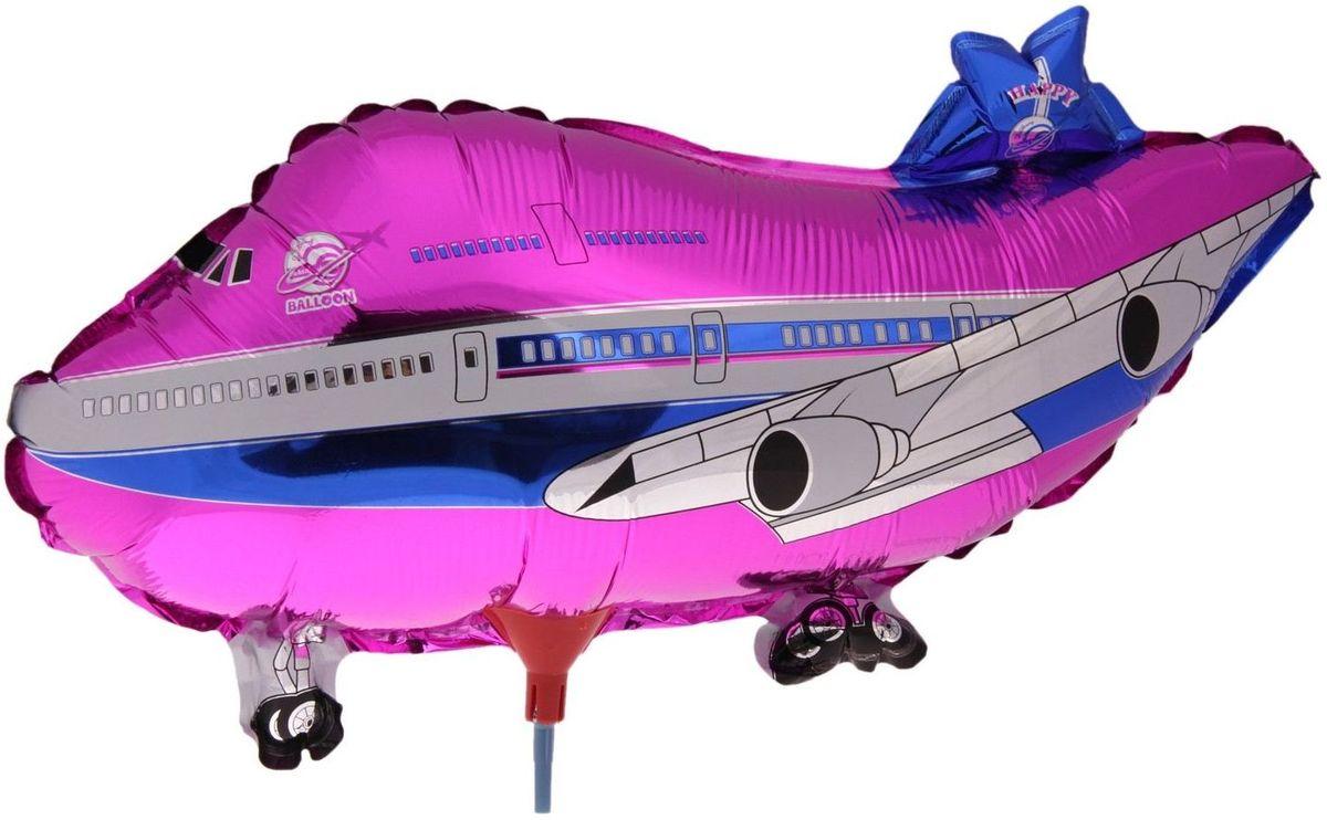 Sima-land Воздушный шарик Самолет 10 с палочкой 331168