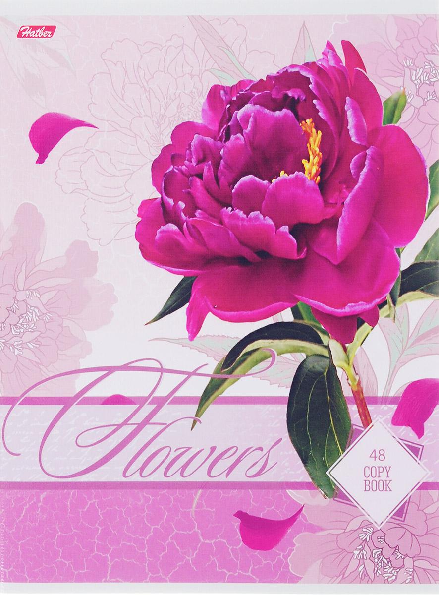 Hatber Тетрадь Дарите девушкам цветы 48 листов в клетку цвет розовый