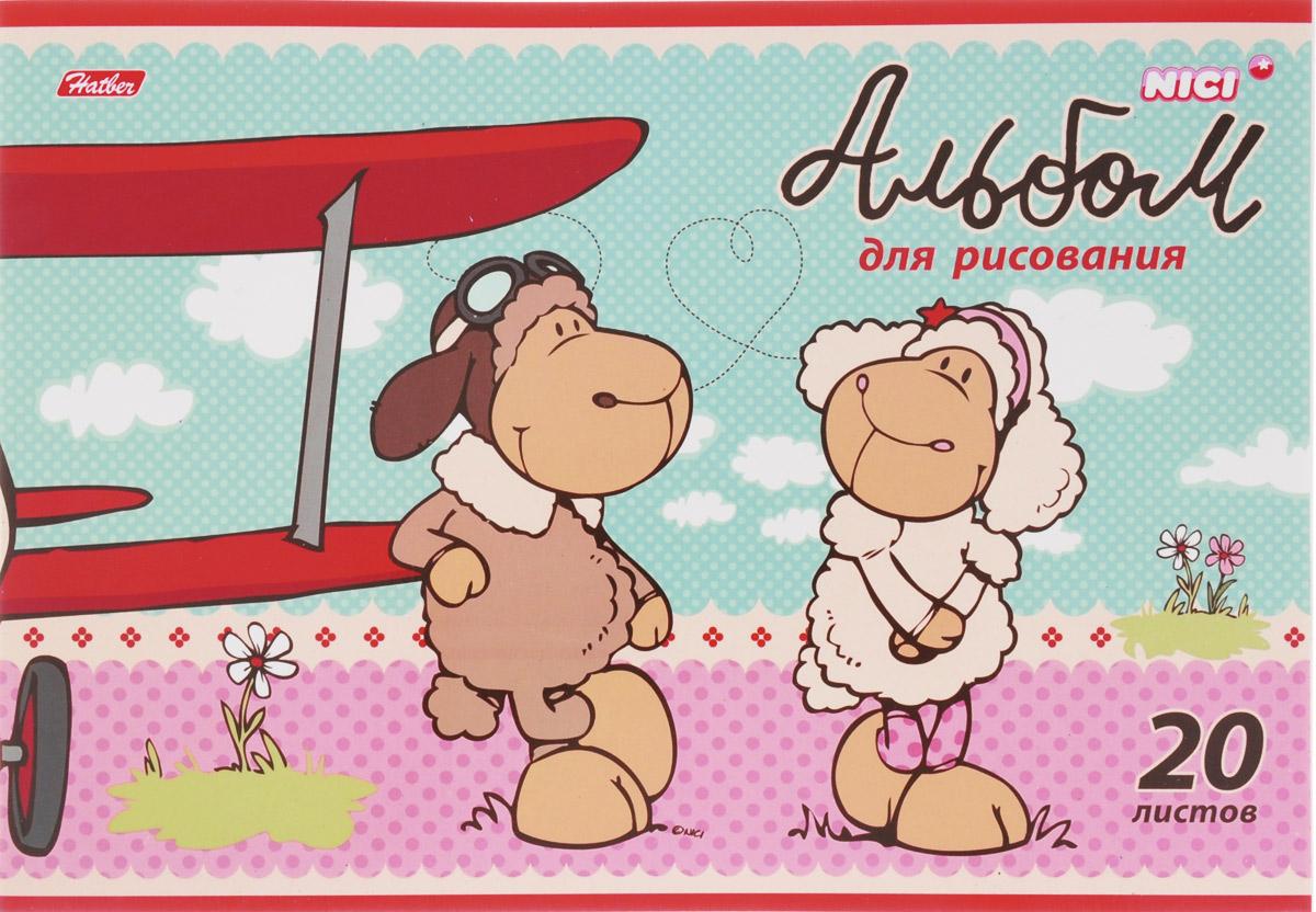 Hatber Альбом для рисования Милые овечки 20 листов 1527420А4В_15274Альбом для рисования Hatber Милые овечки будет вдохновлять ребенка на творческий процесс. Альбом изготовлен из белоснежной бумаги с яркой обложкой из плотного картона, оформленной изображением двух овечек. Внутренний блок альбома состоит из 20 листов бумаги, скрепленных двумя металлическими скрепками. Высокое качество бумаги позволяет рисовать в альбоме карандашами, фломастерами, акварельными и гуашевыми красками. Во время рисования совершенствуются ассоциативное, аналитическое и творческое мышления. Занимаясь изобразительным творчеством, малыш тренирует мелкую моторику рук, становится более усидчивым и спокойным.