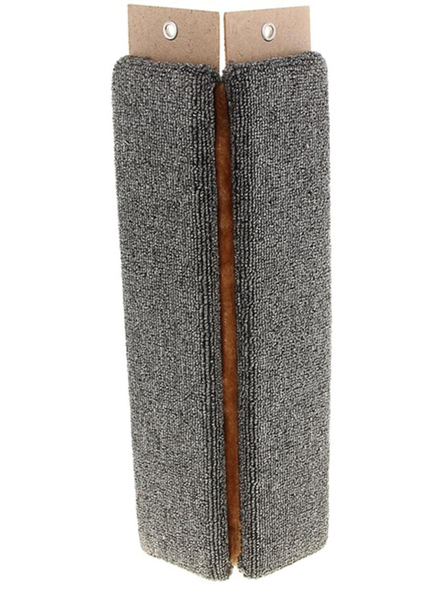 Когтеточка Меридиан, угловая, ковролин, 680х145х145К023