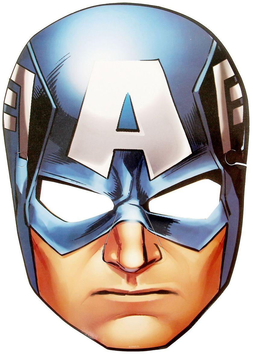 Marvel Маска карнавальная детская Капитан Америка