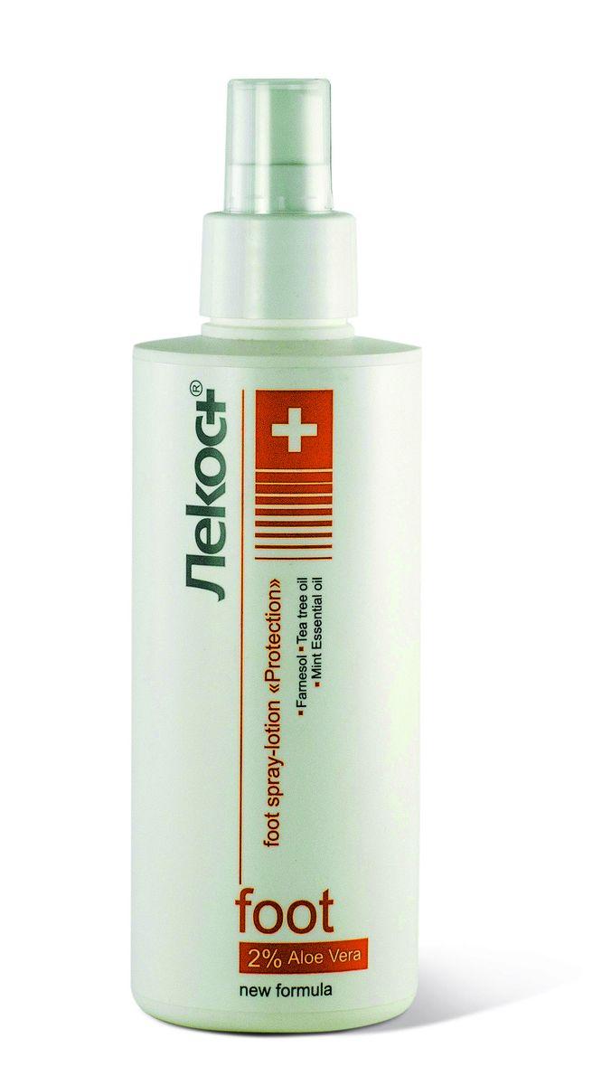 Лекос+ Спрей-лосьон для ног Защита, 200 мл2589Великолепное средство моментального действия для ухода за ногами в течение дня. Спрей-лосьон содержит антибактериальный и противогрибковый компоненты, которые обеспечивают надежную защиту кожи ног. Моментально защищает кожу ног, обеспечивает длительный дезодорирующий эффект. Фарнезол блокирует появление неприятного запаха, не уничтожая кожную микрофлору. Алоэ, эвкалипт, прополис и масло чайного дерева снимают раздражение, увлажняют кожу, оказывают дезодорирующее действие. Эфирное масло мяты охлаждает, освежает и тонизирует