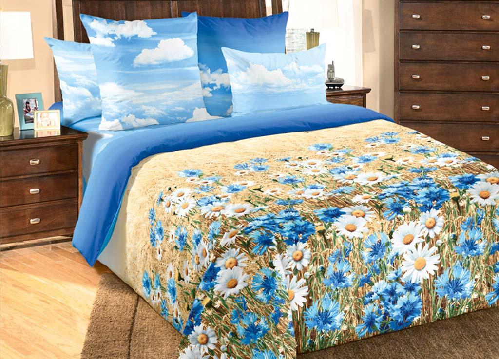 Комплект белья Primavera Васельки, 1,5-спальный, наволочки 70x70, цвет: голубой81085Наволочки с декоративным кантом особенно подойдут, если вы предпочитаете класть подушки поверх покрывала. Кайма шириной 5-10см с трех или четырех сторон делает подушки визуально более объемными, смотрятся они очень аккуратно, даже парадно. Еще такие наволочки называют оксфордскими или наволочками «с ушками». Сатин – прочная и плотная ткань с диагональным переплетением нитей. Хлопковый сатин по мягкости и гладкости уступает атласу, зато не будет соскальзывать с кровати. Сатиновое постельное белье легко переносит стирку в горячей воде, не выцветает. Прослужит комплект из обычного сатина меньше, чем из сатина повышенной плотности, но дольше белья из любой другой хлопковой ткани. Сатин приятен на ощупь, под ним комфортно спать летом и зимой. Производство «Примавера» находится в Китае, что позволяет сократить расходы на доставку хлопка. Поэтому цены на это постельное белье более чем скромные и это не сказывается на качестве. Сатин очень гладкий, мягкий, но при этом, невероятно прочный....