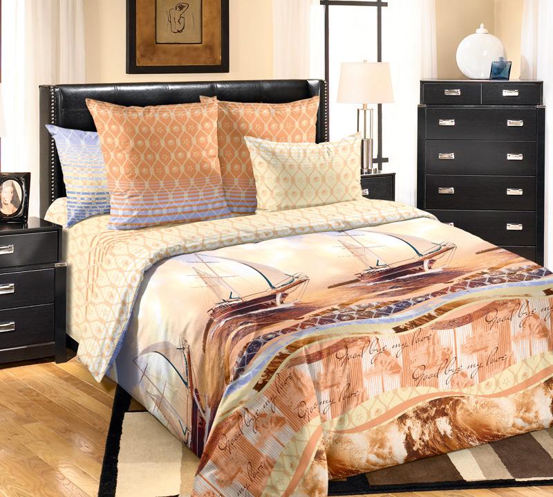 Комплект белья Primavera Круиз, 1,5-спальный, наволочки 70x70, цвет: желто-оранжевый84800Наволочки с декоративным кантом особенно подойдут, если вы предпочитаете класть подушки поверх покрывала. Кайма шириной 5-10см с трех или четырех сторон делает подушки визуально более объемными, смотрятся они очень аккуратно, даже парадно. Еще такие наволочки называют оксфордскими или наволочками «с ушками». Сатин – прочная и плотная ткань с диагональным переплетением нитей. Хлопковый сатин по мягкости и гладкости уступает атласу, зато не будет соскальзывать с кровати. Сатиновое постельное белье легко переносит стирку в горячей воде, не выцветает. Прослужит комплект из обычного сатина меньше, чем из сатина повышенной плотности, но дольше белья из любой другой хлопковой ткани. Сатин приятен на ощупь, под ним комфортно спать летом и зимой. Производство «Примавера» находится в Китае, что позволяет сократить расходы на доставку хлопка. Поэтому цены на это постельное белье более чем скромные и это не сказывается на качестве. Сатин очень гладкий, мягкий, но при этом, невероятно прочный....
