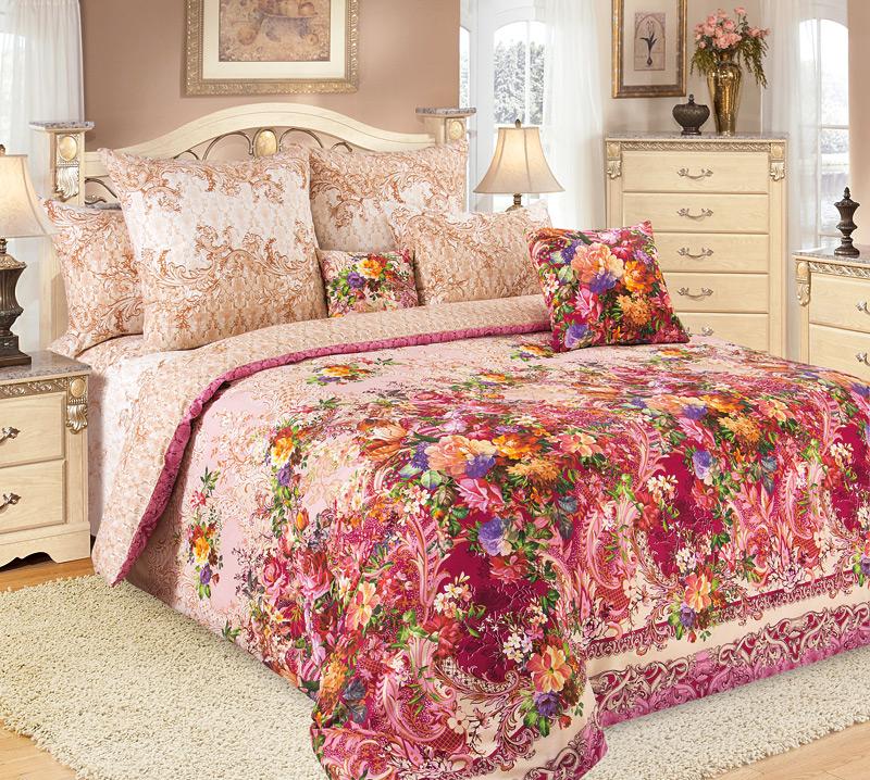 """Комплект белья Primavera """"Чары"""", 1, 5-спальный, наволочки 70x70, цвет: розовый"""