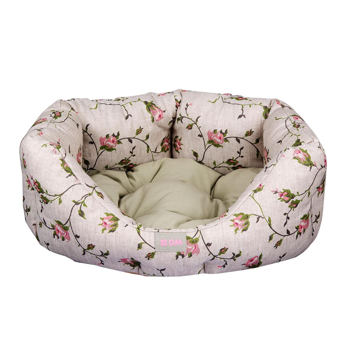 Лежак Dogmoda НежностьDM-160127Лежак Нежность предназначен для собак мелких пород и кошек. Выполнен из полульна с цветочным принтом. Наполнитель выполнен из полиэфирного волокна. Лежак очень удобный, уютный и оснащен высокими бортиками. Ваш любимец сразу же захочет забраться на лежак