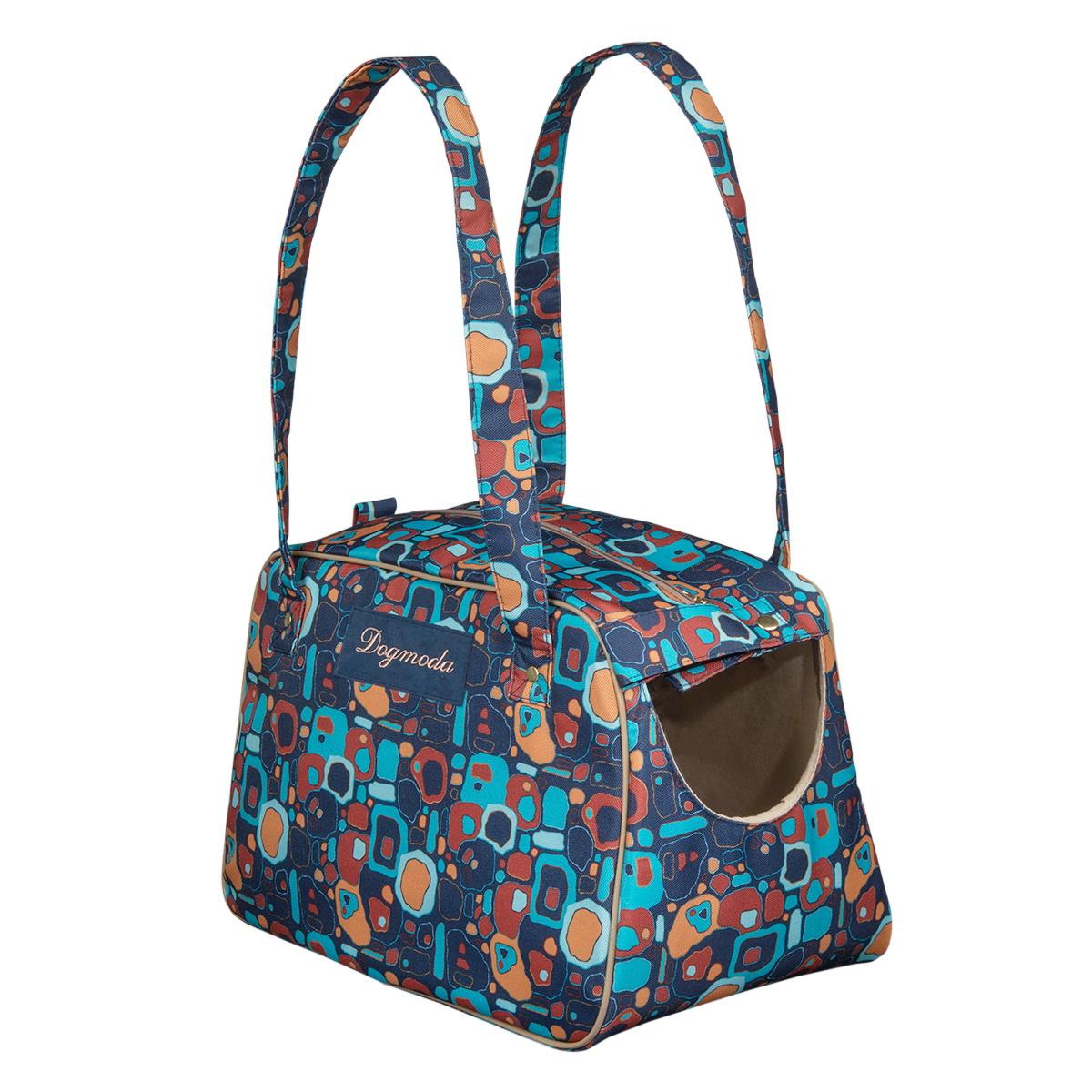 Сумка-переноска для животных Dogmoda Сити, 44 х 23 х 30 смDM-160246Сумка-переноска Dogmoda Сити станет стильным аксессуаром для вас и надежным убежищем во время прогулок и путешествий для вашего питомца. Сумка выполнена из специальной плотной сумочной ткани яркой расцветки. Модель вместительная, практичная и красивая. Такая сумка позволит брать питомца с собой куда угодно. Вашему четвероногому другу будет тепло и комфортно. А через удобное окошечко он сможет наблюдать по дороге за всем, что происходит вокруг. Модель застегивается на молнию и дополнительно хлястиком на кнопку. Предназначена для собак мелких пород, кошек и других животных небольшого размера. Сумка-переноска будет радовать удобством вашего любимца, а стильный внешний вид подчеркнет вашу индивидуальность.