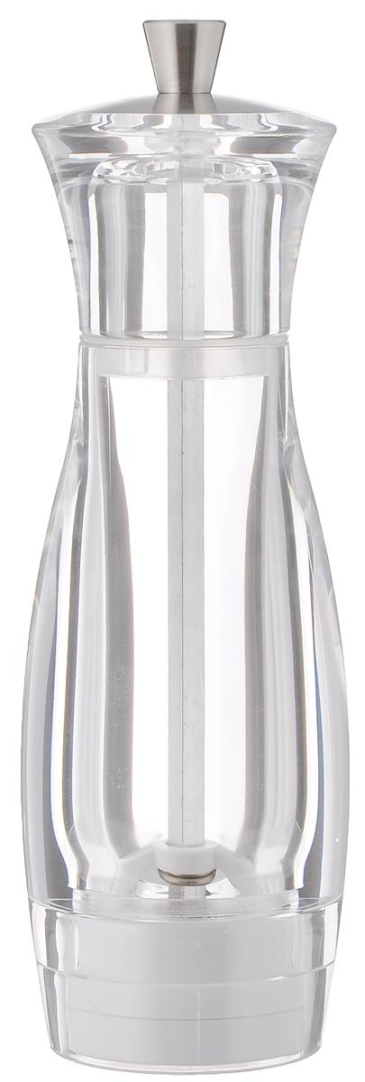 Мельница для соли Tescoma Virgo, высота 16 см658206Мельница для соли Tescoma Virgo - отличное приспособление для приготовления блюд со свежемолотой солью. Изделие имеет керамический механизм помола и регулировку степени грубости помола. Мельница выполнена из прозрачного пластика и нержавеющей стали. Прозрачные стенки позволяют видеть количество содержимого. Не предназначена для мытья в посудомоечной машине.