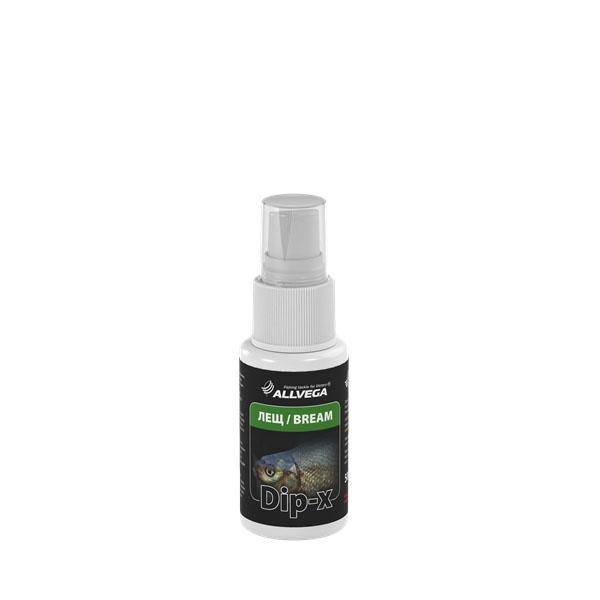 Ароматизатор-спрей ALLVEGA Dip-X Bream - ЛЕЩ, 50 мл. 5263052630Это серия высококонцентрированных растворов с различными запахами в виде спрея, предназначенных для быстрой ароматизации различных наживок и приманок, в том числе искусственных. Широкий ассортимент запахов позволяет выбрать оптимальный вариант в любой ситуации.