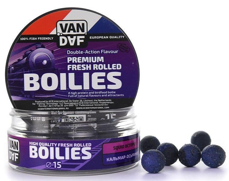 "Бойлы VAN DAF ""Кальмар-осьминог"", цвет: фиолетовый, диаметр 15 мм, 100 г 57277"