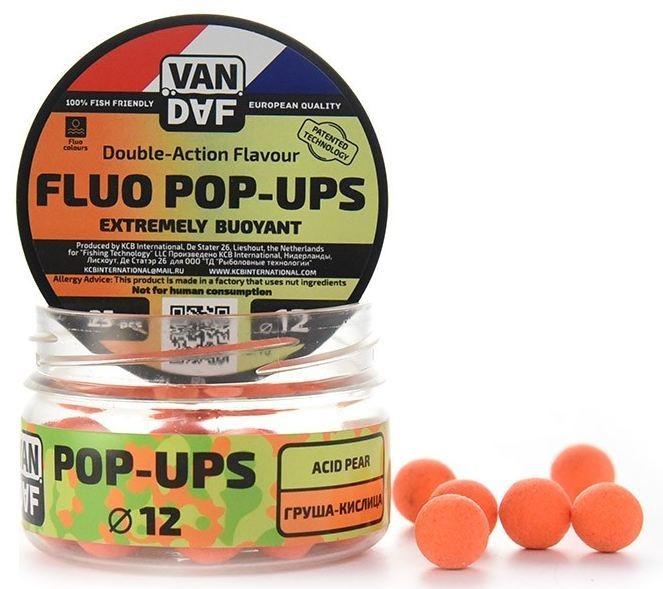 Поп-апы VAN DAF Груша-кислица, цвет: оранжевый, диаметр 12 мм, 25 шт57307Поп-апы VAN DAF Груша-кислица - это невероятно привлекательная насадка с потрясающей видимостью даже в воде с минимальной прозрачностью. Сохраняет положительную плавучесть несколько часов. Поп-апы созданы для традиционной карповой ловли, а в сочетании с жидкими аттрактантами VAN DAF являются отменной насадкой для ловли на FLAT FEEDER (флэт фидер). Поп-апы имеют уникальную мягкую губчатую структуру, отлично впитывающую стимуляторы аппетита и мгновенно отдающую запах в воде. Вы можете без проблем проткнуть их иглой или привязать к волосу. Мягкий и податливый материал легко режется. С помощью ножа или ножниц вы сможете придать любой размер или форму вашей насадке. Каждый POP-UP пропитан ароматизатором с привлекательным для карпа запахом. Яркий флуоресцентный цвет делает насадку на волосе хорошо заметной, а расходящийся от нее запах выделяет ее на дне и провоцирует рыбу на поклевку. Измельчив и добавив их в спод-микс совместно с пеллетсом, зерновыми миксами, резаными...