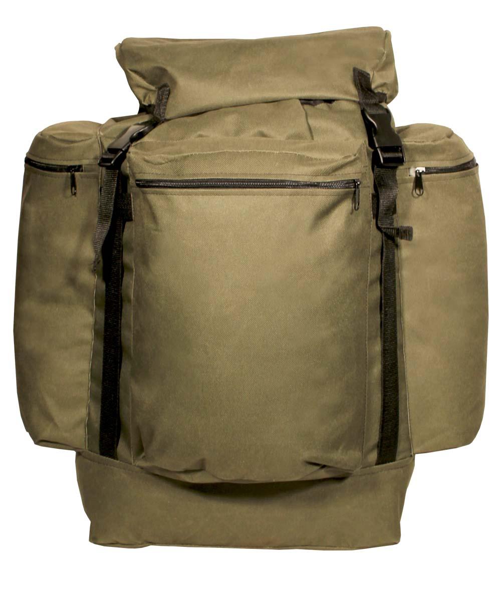 Рюкзак ТАЙФ Универсал город, цвет: хаки, олива, 55 л. 5725957259Простой, надежный рюкзак с верхней загрузкой для загородных прогулок на природе. Компактность рюкзака обеспечит маневренность, а отсутствие высокого верхнего клапана расширит обзор. Технические характеристики: Регулируемые лямки, Одно большое отделение для снаряжения на утяжке с верхним клапаном, Верхний клапан с дополнительным объемом, Регулировка высоты верхнего клапана при помощи стропы и фастекса, Усилительные стропы на фронтальной части и на верхнем клапане, Три объемных кармана на молнии.