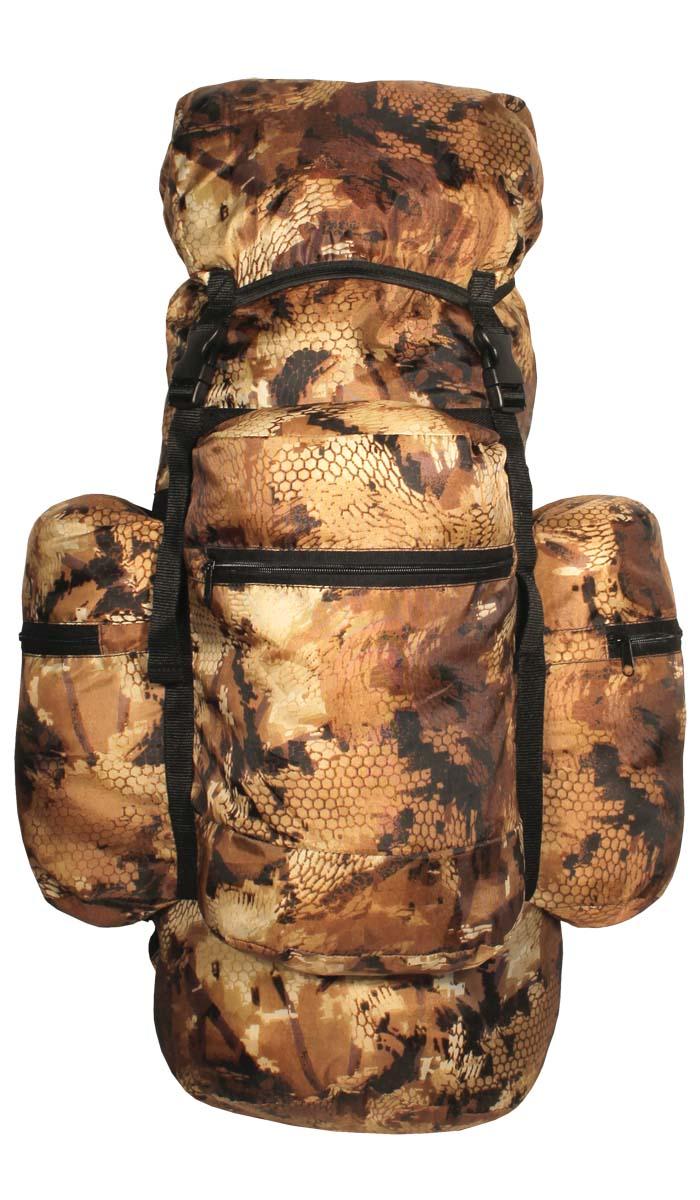 Рюкзак ТАЙФ Рейд, цвет: лес, 80 л. 5726657266Рюкзак для рыбалки, охоты и активного отдыха. Практичный, прочный и удобный в эксплуатации, с плавающим верхним клапаном. Его основной объем и три больших кармана на молнии вместят все необходимое для снаряжения. Сигарообразная форма и широкие анатомические лямки делают рюкзак комфортным в эксплуатации. Съемный верхний клапан дает возможность укладки спальника, палатки. Технические характеристики: Мягкие регулируемые лямки анатомической формы, Одно большое отделение для снаряжения с утягивающимся входом, Съемный верхний клапан, Три объемных кармана на молнии, Регулировка высоты клапана при помощи строп, Усилительные стропы