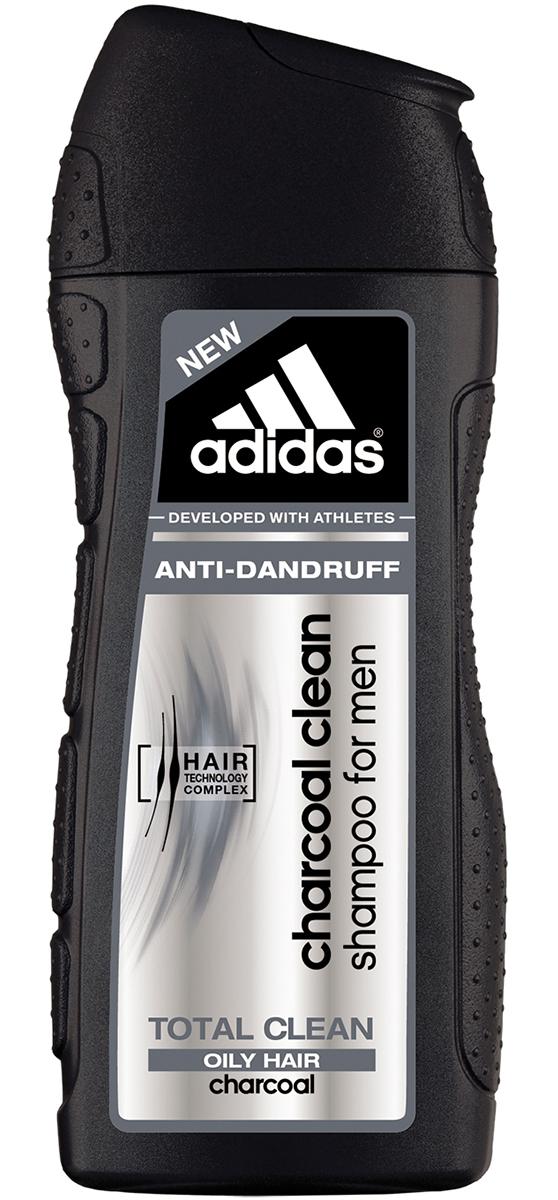 Adidas Шампунь Сharcoal Сlean Абсолютная Чистота, против перхоти, для жирных волос, мужской, 200 мл3401319891/3614220554204Самое глубокое очищение волос от Adidas, против перхоти и загрязнений кожи головы. HAIR TECHNOLOGY COMPLEX: катионный полимер+пантенол = увлажнение и разглаживание; бамбуковый уголь – это материал, который полезен не только для людей, но и для окружающей среды, так как он обладает сильной абсорбционной способностью. Шампунь против перхоти Adidas очищающий уголь, обогащенный гранулами бамбукового угля, легко справится с этой задачей, всего за одно применение полностью удаляет жир и грязь с волос и кожи головы.