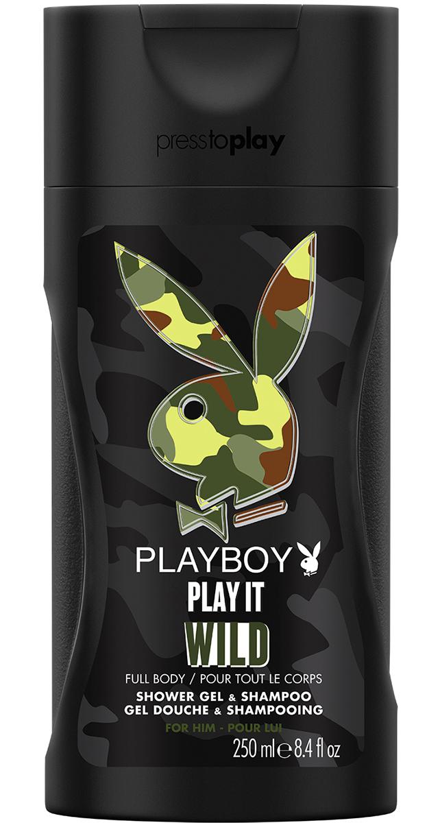 Playboy Гель для душа и шампунь парфюмированный Play It Wild, мужской, 250 мл3402155311/3614221141380Пусть твой день станет особенным. Гели для душа и шампуни Playboy придадут тебе свежесть и сексуальность на весь день. Она не сможет устоять!