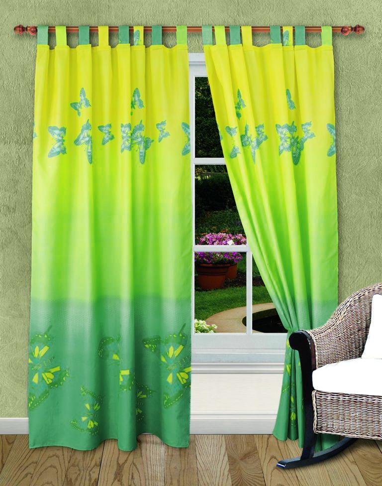 Комплект штор Мгновение, на петлях, цвет: зеленый, салатовый, высота 220 смШП-7-140-220-2Роскошный комплект штор Мгновение, выполненный из микрофибры, великолепно украсит любое окно. Комплект состоит из двух штор. Шторы выполнены из непрозрачной ткани средней плотности и декорированы изящным рисунком в виде бабочек. Цветовая гамма штор плавно переходит от зеленого в нижней части к салатовому в верхней части. Оригинальный дизайн и нежная цветовая гамма привлекут к себе внимание и органично впишутся в интерьер комнаты. Все предметы комплекта - на петлях. Характеристики: Материал: микрофибра (100% полиэстер). Цвет: зеленый, салатовый. Размер упаковки: 30 см х 27 см х 2 см. Артикул: ШП-7-140-220-2. В комплект входят: Штора - 2 шт. Размер (Ш х В): 140 см х 220 см.