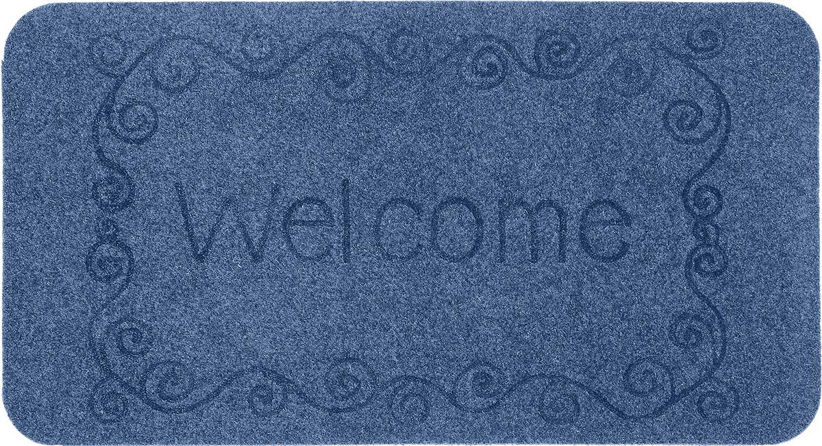 Коврик придверный EFCO Оскар. Завитки, цвет: голубой, 70 х 40 см13130/голОригинальный придверный коврик EFCO Оскар. Завитки надежно защитит помещение от уличной пыли и грязи. Изделие выполнено из 100% полипропилена, основа - латекс. Такой коврик сохранит привлекательный внешний вид на долгое время, а благодаря латексной основе, он легко чистится и моется.
