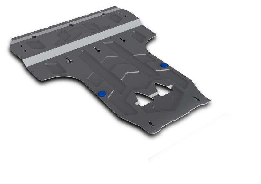 Защита картера и КПП Rival, для AUDI A6/A7. 333.0314.2333.0314.2Защита картера и КПП для Audi A6 , V - все 2011-, крепеж в комплекте, алюминий 4 мм, Rival. Надежно защищают днище вашего автомобиля от повреждений, например при наезде на бордюры, а также выполняют эстетическую функцию при установке на высокие автомобили. - Толщина алюминиевых защит в 2 раза толще стальных, а вес при этом меньше до 30%. - Отлично отводит тепло от двигателя своей поверхностью, что спасает двигатель от перегрева в летний период или при высоких нагрузках. - В отличие от стальных, алюминиевые защиты не поддаются коррозии, что гарантирует срок службы защит более 5 лет. - Покрываются порошковой краской, что надолго сохраняет первоначальный вид новой защиты и защищает от гальванической коррозии. - Глубокий штамп дополнительно усиливает конструкцию защиты. - Подштамповка в местах крепления защищает крепеж от срезания. - Технологические отверстия там, где они необходимы для смены масла и слива воды,...