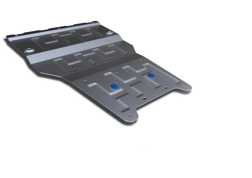 Защита картера и КПП Rival, для AUDI Q3. 333.0328.1333.0328.1Защита картера и КПП для Audi Q3 , V - 2,0 TFSI; 2,0 TDI 2011-, крепеж в комплекте, алюминий 4 мм, Rival. Надежно защищают днище вашего автомобиля от повреждений, например при наезде на бордюры, а также выполняют эстетическую функцию при установке на высокие автомобили. - Толщина алюминиевых защит в 2 раза толще стальных, а вес при этом меньше до 30%. - Отлично отводит тепло от двигателя своей поверхностью, что спасает двигатель от перегрева в летний период или при высоких нагрузках. - В отличие от стальных, алюминиевые защиты не поддаются коррозии, что гарантирует срок службы защит более 5 лет. - Покрываются порошковой краской, что надолго сохраняет первоначальный вид новой защиты и защищает от гальванической коррозии. - Глубокий штамп дополнительно усиливает конструкцию защиты. - Подштамповка в местах крепления защищает крепеж от срезания. - Технологические отверстия там, где они необходимы для смены масла и...
