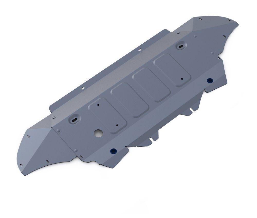 Защита радиатора и картера Rival, для AUDI Q7. 333.0329.1333.0329.1Защита радиатора и картера для Audi Q7, V - 3,0TFSI; 3,0TFSI S-Line; 3,0TDI 2015-, крепеж в комплекте, алюминий 4 мм, Rival. Надежно защищают днище вашего автомобиля от повреждений, например при наезде на бордюры, а также выполняют эстетическую функцию при установке на высокие автомобили. - Толщина алюминиевых защит в 2 раза толще стальных, а вес при этом меньше до 30%. - Отлично отводит тепло от двигателя своей поверхностью, что спасает двигатель от перегрева в летний период или при высоких нагрузках. - В отличие от стальных, алюминиевые защиты не поддаются коррозии, что гарантирует срок службы защит более 5 лет. - Покрываются порошковой краской, что надолго сохраняет первоначальный вид новой защиты и защищает от гальванической коррозии. - Глубокий штамп дополнительно усиливает конструкцию защиты. - Подштамповка в местах крепления защищает крепеж от срезания. - Технологические отверстия там, где они необходимы...