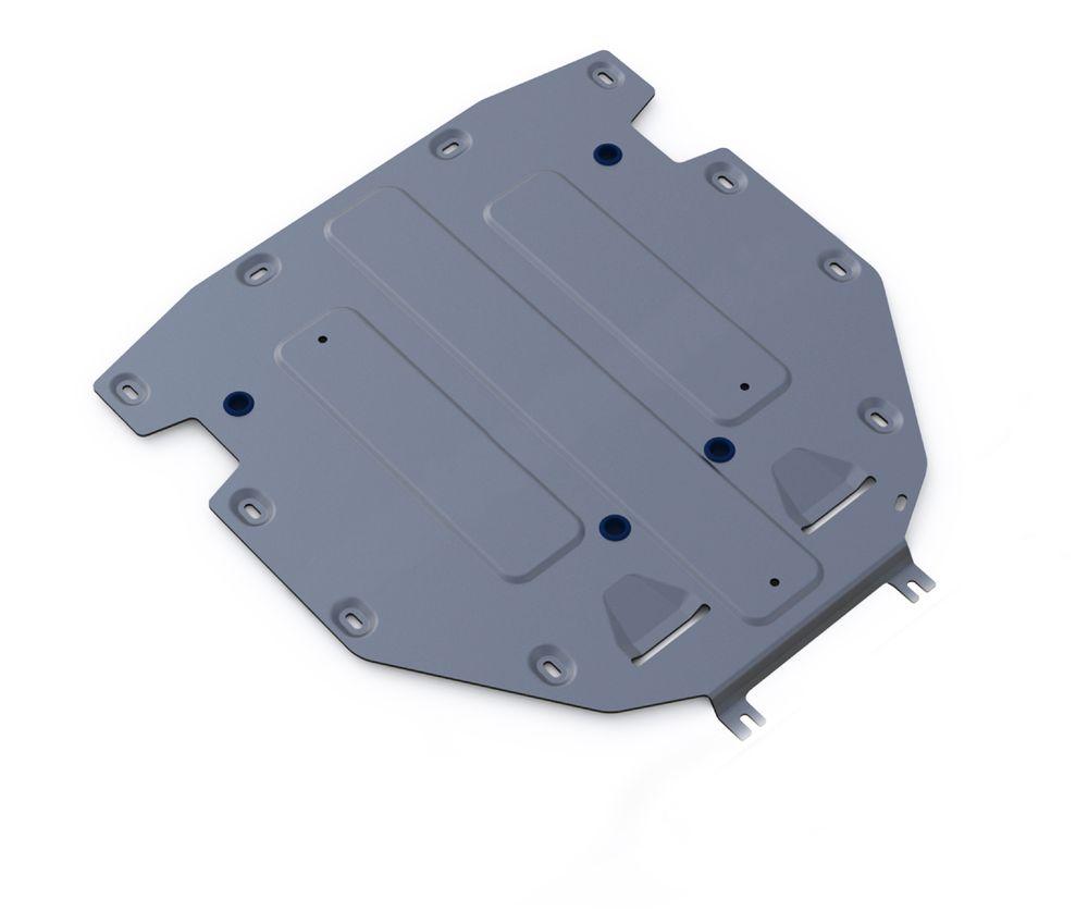 Защита КПП Rival, для AUDI Q7. 333.0330.1333.0330.1Алюминиевые защиты картера Rival надежно защищают днище автомобиля от повреждений при наезде на бордюры, выступающие канализационные люки, кромки поврежденного асфальта или при ремонте дорог, не говоря уже о загородных дорогах. Толщина алюминиевых защит Rival - 4 мм, что в 2 раза толще стальных, а вес при этом меньше на 30%. Алюминий отлично отводит тепло от двигателя своей поверхностью, что спасает его от перегрева в летний период или при высоких нагрузках. В отличие от стальных, алюминиевые защиты не поддаются коррозии, что гарантирует срок службы защит более 5 лет. Отметим, что на рынке только алюминиевые защиты Rival дополнительно покрываются порошковой краской, что надолго сохраняет первоначальный вид новой защиты.