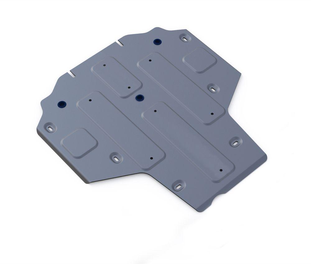 Защита КПП Rival, для AUDI A4. 333.0335.1333.0335.1Технологически совершенный продукт за невысокую стоимость. Защита разработана с учетом особенностей днища автомобиля, что позволяет сохранить дорожный просвет с минимальным изменением. Защита устанавливается в штатные места кузова автомобиля. Глубокий штамп обеспечивает до двух раз больше жесткости в сравнении с обычной защитой той же толщины. Проштампованные ребра жесткости препятствуют деформации защиты при ударах. Тепловой зазор и вентиляционные отверстия обеспечивают сохранение температурного режима двигателя в норме. Скрытый крепеж предотвращает срыв крепежных элементов при наезде на препятствие. Шумопоглощающие резиновые элементы обеспечивают комфортную езду без вибраций и скрежета металла, а съемные лючки для слива масла и замены фильтра - экономию средств и времени. Конструкция изделия не влияет на пассивную безопасность автомобиля (при ударе защита не воздействует на деформационные зоны кузова).