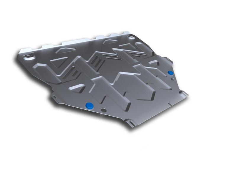 Защита картера и КПП Rival, для FORD Kuga II. 333.1838.1333.1838.1Защита картера и КПП для Ford Kuga , V - 2,5, 2016-, крепеж в комплекте, алюминий 4 мм, Rival. Надежно защищают днище вашего автомобиля от повреждений, например при наезде на бордюры, а также выполняют эстетическую функцию при установке на высокие автомобили. - Толщина алюминиевых защит в 2 раза толще стальных, а вес при этом меньше до 30%. - Отлично отводит тепло от двигателя своей поверхностью, что спасает двигатель от перегрева в летний период или при высоких нагрузках. - В отличие от стальных, алюминиевые защиты не поддаются коррозии, что гарантирует срок службы защит более 5 лет. - Покрываются порошковой краской, что надолго сохраняет первоначальный вид новой защиты и защищает от гальванической коррозии. - Глубокий штамп дополнительно усиливает конструкцию защиты. - Подштамповка в местах крепления защищает крепеж от срезания. - Технологические отверстия там, где они необходимы для смены масла и слива воды,...