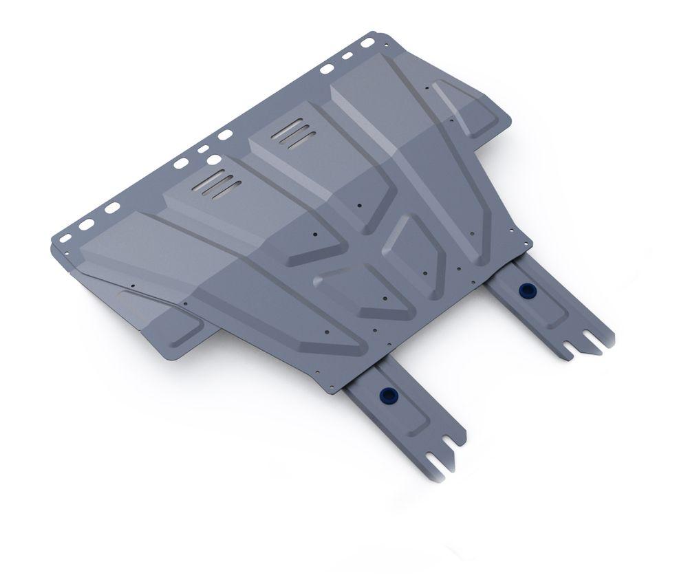 Защита картера и КПП Rival, для FORD Focus II/Focus III/Kuga I/С-Max. 333.1850.1333.1850.1Защита картера и КПП (универсальная) для Ford Focus II,III 2005-2011 2011-, крепеж в комплекте, алюминий 3 мм, Rival. Надежно защищают днище вашего автомобиля от повреждений, например при наезде на бордюры, а также выполняют эстетическую функцию при установке на высокие автомобили. - Толщина алюминиевых защит в 2 раза толще стальных, а вес при этом меньше до 30%. - Отлично отводит тепло от двигателя своей поверхностью, что спасает двигатель от перегрева в летний период или при высоких нагрузках. - В отличие от стальных, алюминиевые защиты не поддаются коррозии, что гарантирует срок службы защит более 5 лет. - Покрываются порошковой краской, что надолго сохраняет первоначальный вид новой защиты и защищает от гальванической коррозии. - Глубокий штамп дополнительно усиливает конструкцию защиты. - Подштамповка в местах крепления защищает крепеж от срезания. - Технологические отверстия там, где они необходимы для...