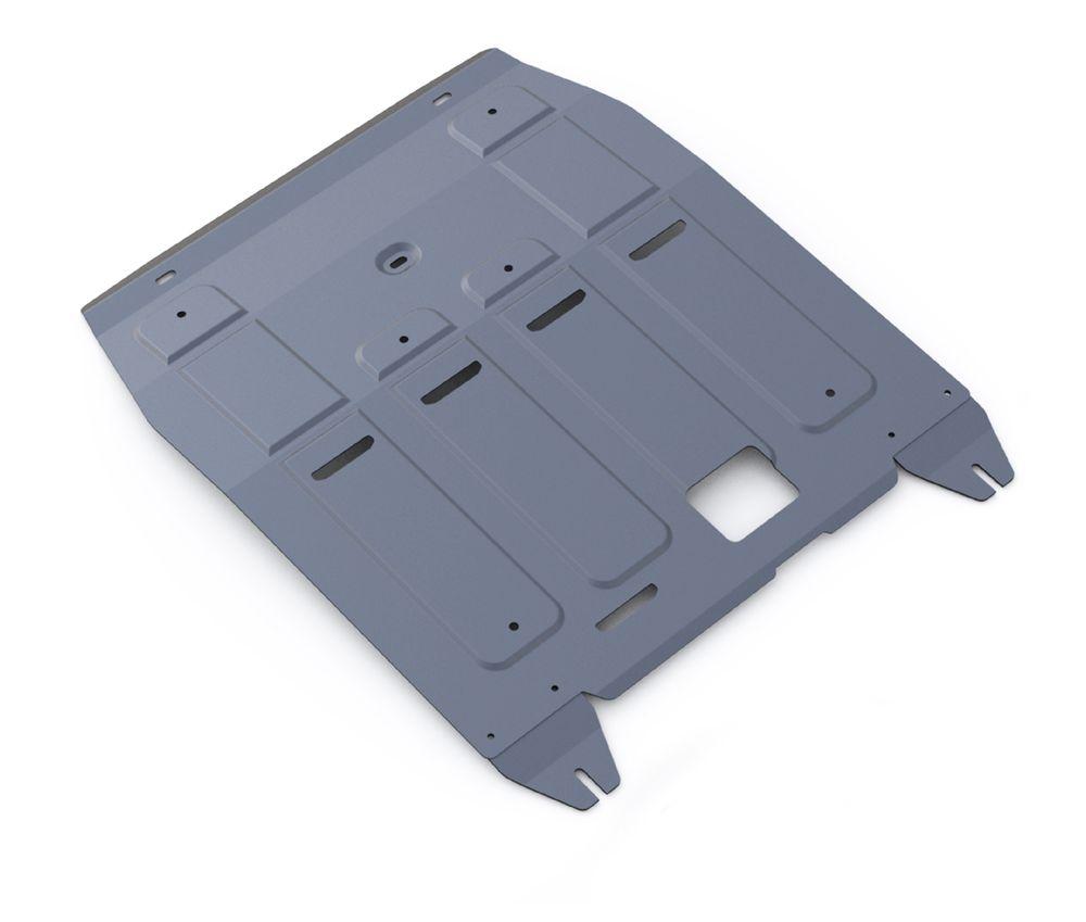 Защита картера и КПП Rival, для Hyundai Tucson III/Kia Sportage III. 333.2357.1333.2357.1Защита картера и КПП для Hyundai Tucson АКПП, V- 1,6GDi, 1,6T(177hp), 2,0MPI, 2,0CRDI 2015-, крепеж в комплекте, алюминий 4 мм, Rival. Надежно защищают днище вашего автомобиля от повреждений, например при наезде на бордюры, а также выполняют эстетическую функцию при установке на высокие автомобили. - Толщина алюминиевых защит в 2 раза толще стальных, а вес при этом меньше до 30%. - Отлично отводит тепло от двигателя своей поверхностью, что спасает двигатель от перегрева в летний период или при высоких нагрузках. - В отличие от стальных, алюминиевые защиты не поддаются коррозии, что гарантирует срок службы защит более 5 лет. - Покрываются порошковой краской, что надолго сохраняет первоначальный вид новой защиты и защищает от гальванической коррозии. - Глубокий штамп дополнительно усиливает конструкцию защиты. - Подштамповка в местах крепления защищает крепеж от срезания. - Технологические отверстия там, где они...