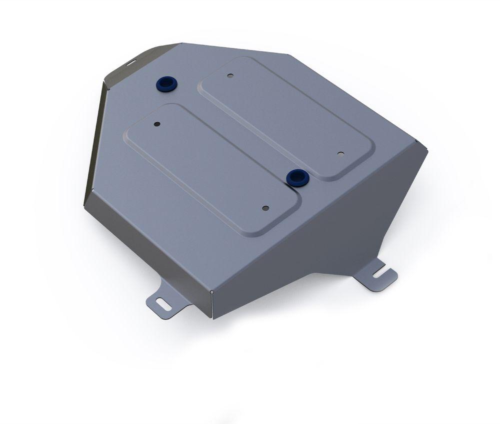 Защита топливного бака Rival, для Hyundai Tucson III. 333.2358.1333.2358.1Алюминиевые защиты картера Rival надежно защищают днище автомобиля от повреждений при наезде на бордюры, выступающие канализационные люки, кромки поврежденного асфальта или при ремонте дорог, не говоря уже о загородных дорогах. Толщина алюминиевых защит Rival - 4 мм, что в 2 раза толще стальных, а вес при этом меньше на 30%. Алюминий отлично отводит тепло от двигателя своей поверхностью, что спасает его от перегрева в летний период или при высоких нагрузках. В отличие от стальных, алюминиевые защиты не поддаются коррозии, что гарантирует срок службы защит более 5 лет. Отметим, что на рынке только алюминиевые защиты Rival дополнительно покрываются порошковой краской, что надолго сохраняет первоначальный вид новой защиты.
