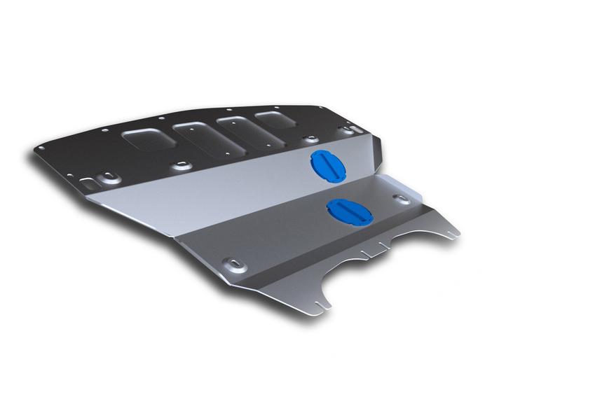 Защита картера Rival, для Infiniti Q 50. 333.2417.1333.2417.1Защита картера для Infiniti Q50; 2WD, 4WD, V - 2,0; 3,5 Hybrid 2013-, крепеж в комплекте, алюминий 4 мм, Rival. Надежно защищают днище вашего автомобиля от повреждений, например при наезде на бордюры, а также выполняют эстетическую функцию при установке на высокие автомобили. - Толщина алюминиевых защит в 2 раза толще стальных, а вес при этом меньше до 30%. - Отлично отводит тепло от двигателя своей поверхностью, что спасает двигатель от перегрева в летний период или при высоких нагрузках. - В отличие от стальных, алюминиевые защиты не поддаются коррозии, что гарантирует срок службы защит более 5 лет. - Покрываются порошковой краской, что надолго сохраняет первоначальный вид новой защиты и защищает от гальванической коррозии. - Глубокий штамп дополнительно усиливает конструкцию защиты. - Подштамповка в местах крепления защищает крепеж от срезания. - Технологические отверстия там, где они необходимы для смены...