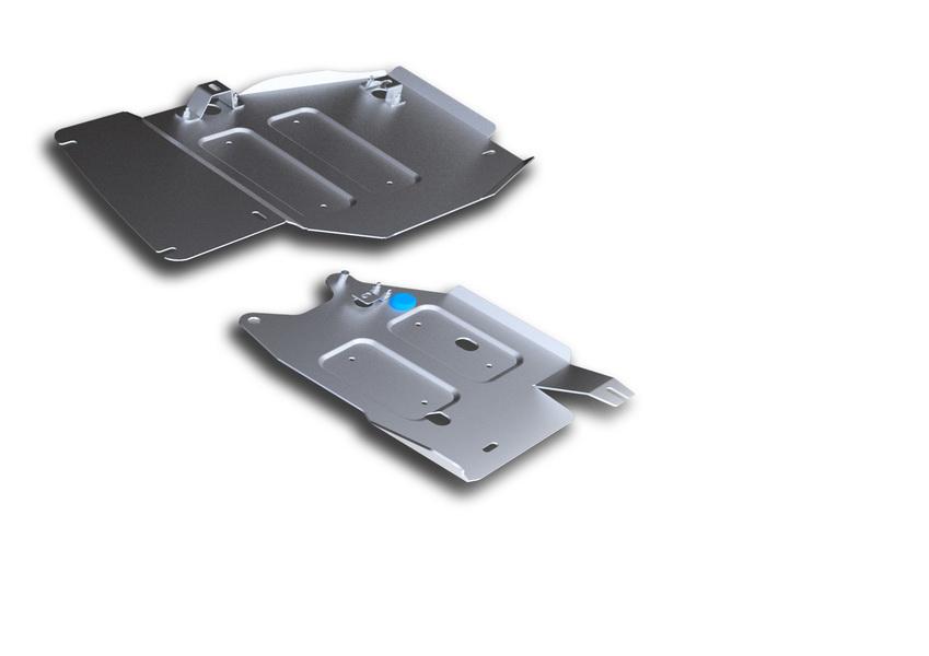Защита РК и топливных трубок Rival, для Jeep Grand Cherokee. 333.2735.1333.2735.1Защита РК и топливных трубок для Jeep Grand Cherokee , V - 3,0 ;3TDI; 3,6; 5,7 2010-2014 2014-, крепеж в комплекте, алюминий 4 мм, Rival. Надежно защищают днище вашего автомобиля от повреждений, например при наезде на бордюры, а также выполняют эстетическую функцию при установке на высокие автомобили. - Толщина алюминиевых защит в 2 раза толще стальных, а вес при этом меньше до 30%. - Отлично отводит тепло от двигателя своей поверхностью, что спасает двигатель от перегрева в летний период или при высоких нагрузках. - В отличие от стальных, алюминиевые защиты не поддаются коррозии, что гарантирует срок службы защит более 5 лет. - Покрываются порошковой краской, что надолго сохраняет первоначальный вид новой защиты и защищает от гальванической коррозии. - Глубокий штамп дополнительно усиливает конструкцию защиты. - Подштамповка в местах крепления защищает крепеж от срезания. - Технологические отверстия там, где они...