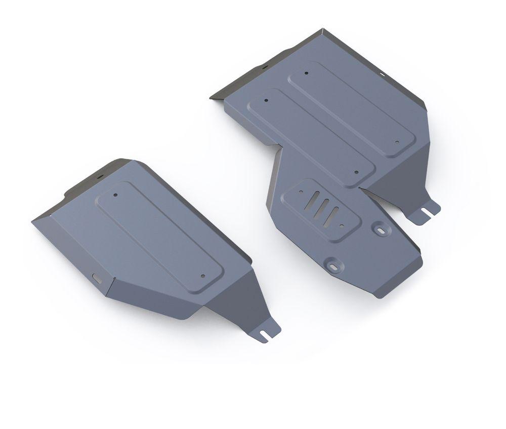 Защита топливного бака и редуктора Rival, для Mitsubishi ASX/Outlander. 333.4038.1333.4038.1Защита топливного бака и редуктора для Mitsubishi ASX 4WD , V - 2,0 2010-, крепеж в комплекте, алюминий 4 мм, Rival. Надежно защищают днище вашего автомобиля от повреждений, например при наезде на бордюры, а также выполняют эстетическую функцию при установке на высокие автомобили. - Толщина алюминиевых защит в 2 раза толще стальных, а вес при этом меньше до 30%. - Отлично отводит тепло от двигателя своей поверхностью, что спасает двигатель от перегрева в летний период или при высоких нагрузках. - В отличие от стальных, алюминиевые защиты не поддаются коррозии, что гарантирует срок службы защит более 5 лет. - Покрываются порошковой краской, что надолго сохраняет первоначальный вид новой защиты и защищает от гальванической коррозии. - Глубокий штамп дополнительно усиливает конструкцию защиты. - Подштамповка в местах крепления защищает крепеж от срезания. - Технологические отверстия там, где они необходимы для смены...