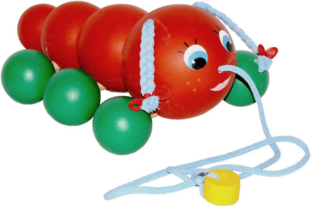 Таис Игрушка-каталка ГусеничкаЦКГ003Игрушки из дерева абсолютно безопасны для здоровья деток, ведь они изготовлены из природного сырья и довольно долговечны. Отлично развивают память, внимание, моторику, творческое мышление, речь и многое другое. С помощью правильно подобранных игрушек из дерева вы сможете обеспечить полноценное развитие своего малыша.