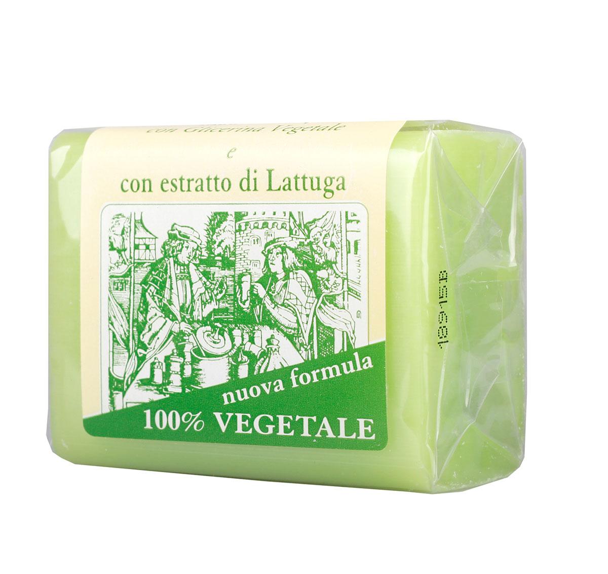 Iteritalia Мыло натуральное глицериновое с экстрактом латука, 150 г836/833ASНатуральное косметическое глицериновое мыло коллекции МАСТЕРА МЫЛОВАРЫ изготовлено из 100% растительных ингредиентов в соответствии с античными традициями мастеров Саронно. Обогащено глицерином и экстрактом латука, обладает очищающим и смягчающим действием. Подходит для всех типов кожи.