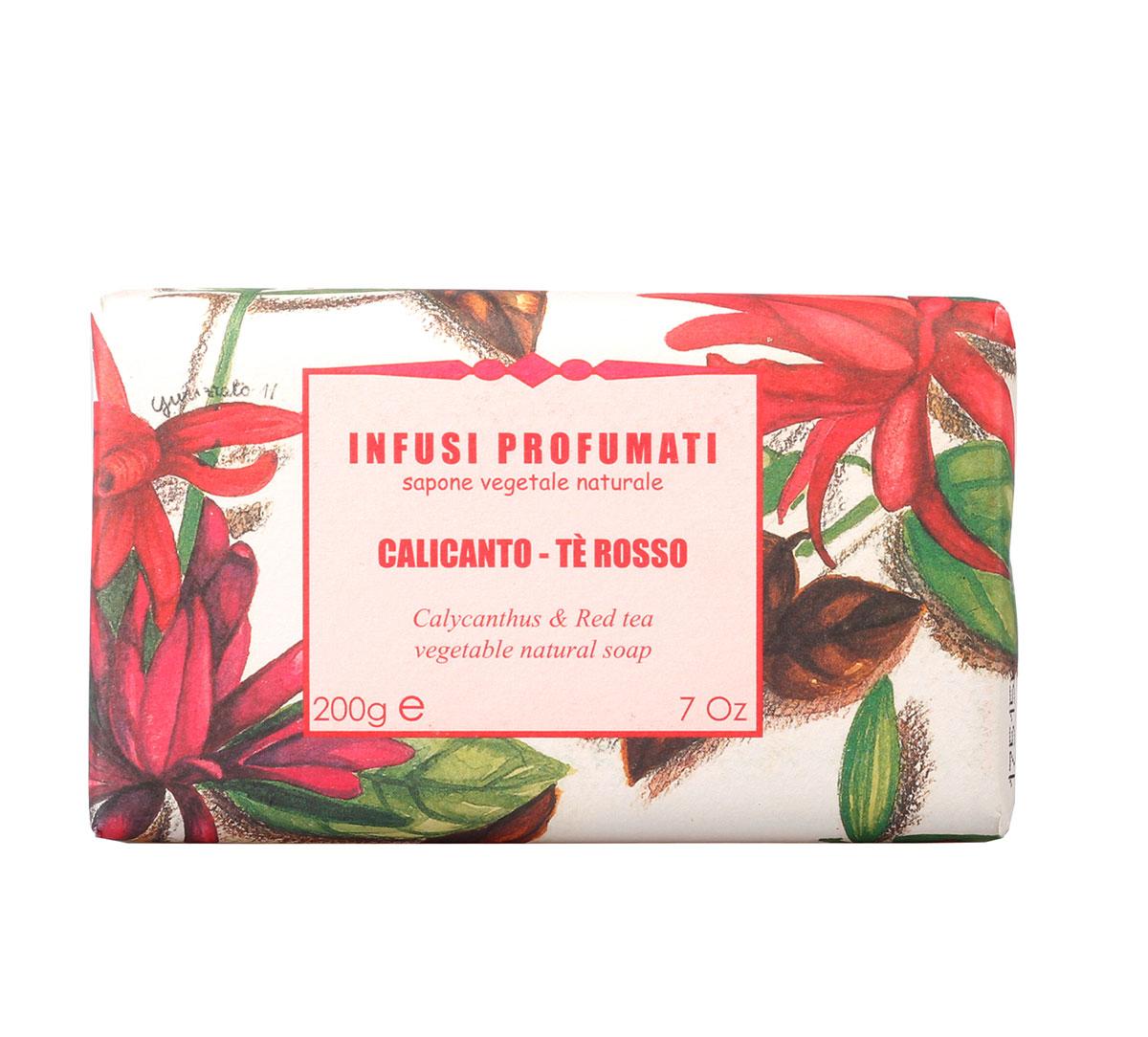 Мыло натуральное с чащицветником и красным чаем , 200 гр, Iteritalia954Натуральное растительное мыло коллекции АРОМАТНЫЙ ЧАЙ соединяет в себе различные сорта чая с добавлением трав, цветов и фруктов. Деликатный аромат чащисветника с острыми нотками красного чая.