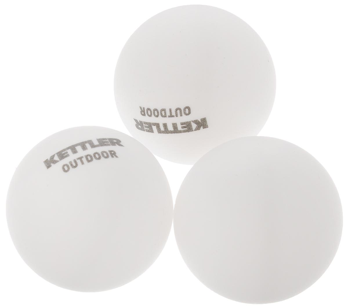 Мяч для настольного тенниса Kettler, диаметр 4 см, 3 шт7222-500Набор мячей Kettler, выполненных из поливинилхлорида, предназначен для игры в настольный теннис. Диаметр мяча: 4 см.