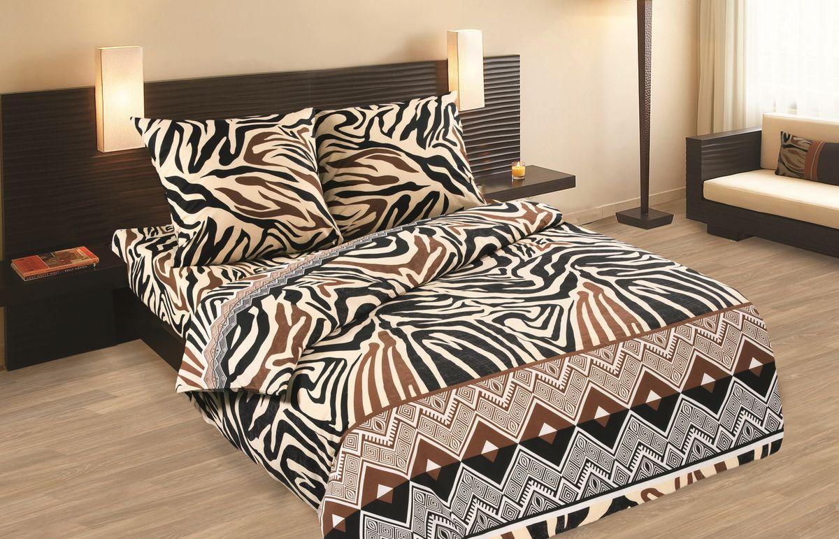 Комплект белья Wenge Tanga , 1,5 спальное, наволочки 70 x 70, цвет: коричневый. 237526237526