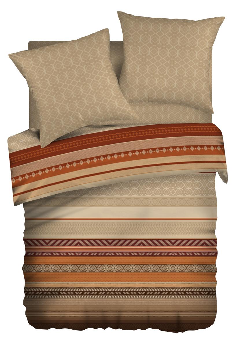 Комплект белья Wenge Dakar, евро, наволочки 70x70, цвет: коричневый237537Бязевое постельное белье состоит из 100% хлопка самого простого полотняного переплетения из достаточно толстых, но мягких нитей. Стоит постельное белье из этой ткани не намного дороже поликоттона или полиэфира, но приятней на ощупь и лучше пропускают воздух. Благодаря современным технологиям окраски, простыни не теряют свой цвет даже после множества стирок. По своим свойствам бязь уступает сатину, что окупается низкой стоимостью и неприхотливостью в уходе.
