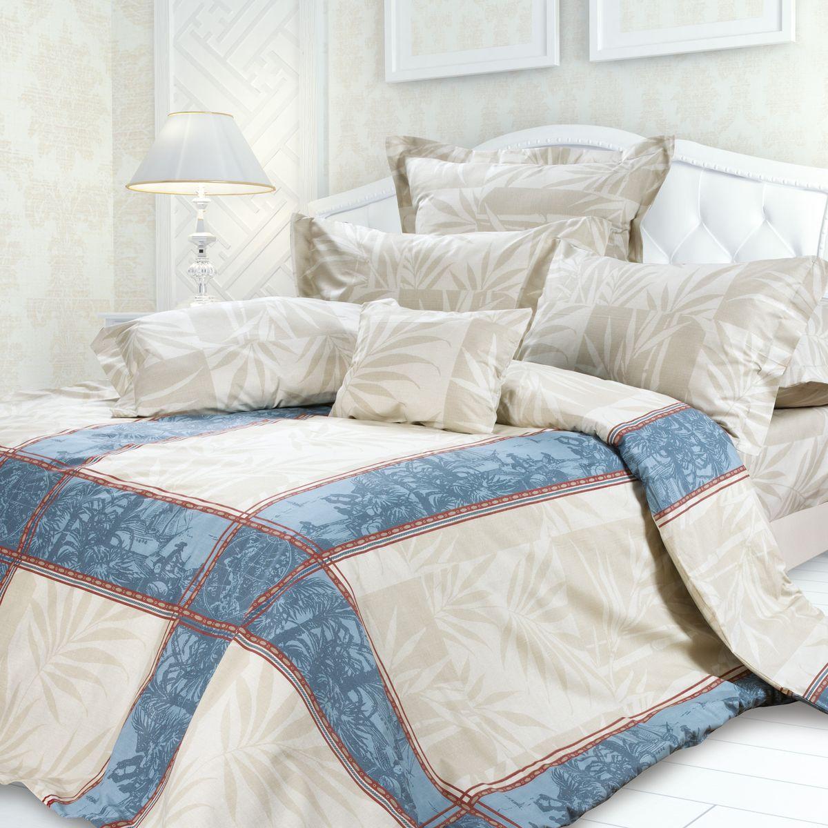 Комплект белья Унисон Кортес, семейный, наволочки 70 x 70, цвет: серый. 239606239606