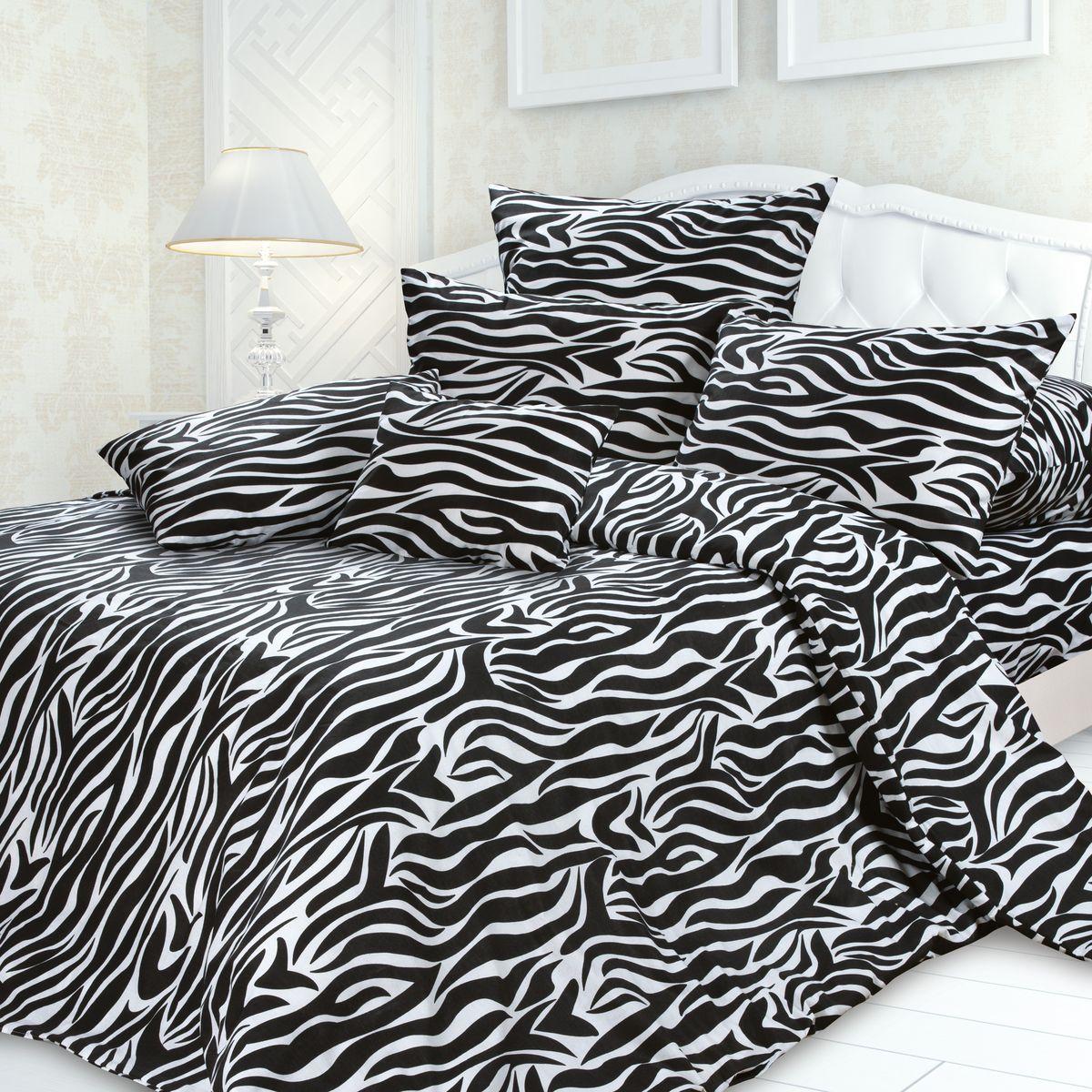 Комплект белья Унисон Эгоист, 1,5 спальное, наволочки 70 x 70, цвет: черный. 239655239655