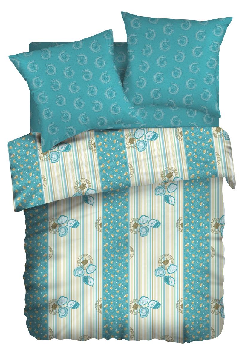 Комплект белья Wenge Ocean, евро, наволочки 70 x 70, цвет: бирюзовый. 263625263625