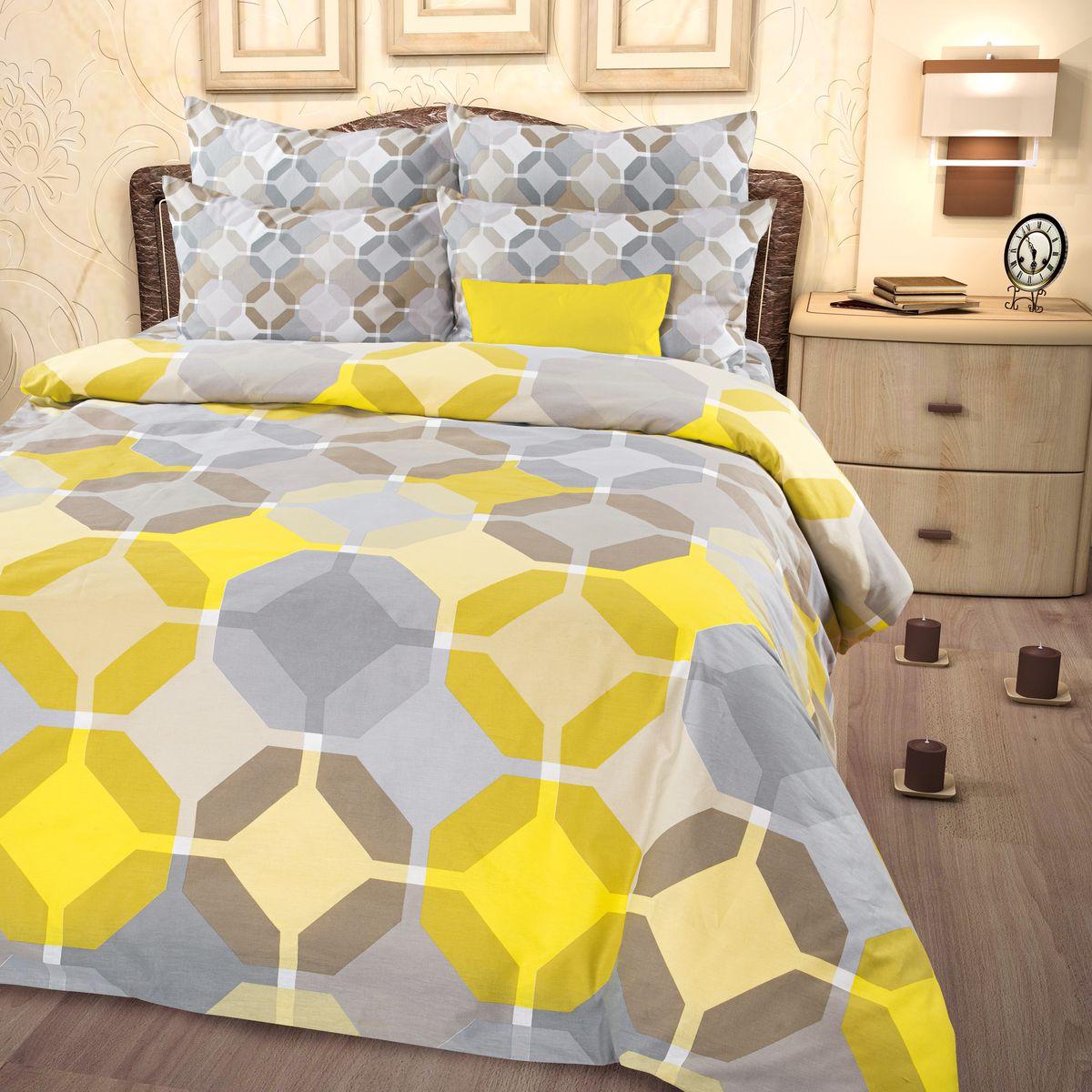 Комплект белья Roberto Rioni Sanremo, семейный, наволочки 50 x 70, цвет: серый. 276406276406
