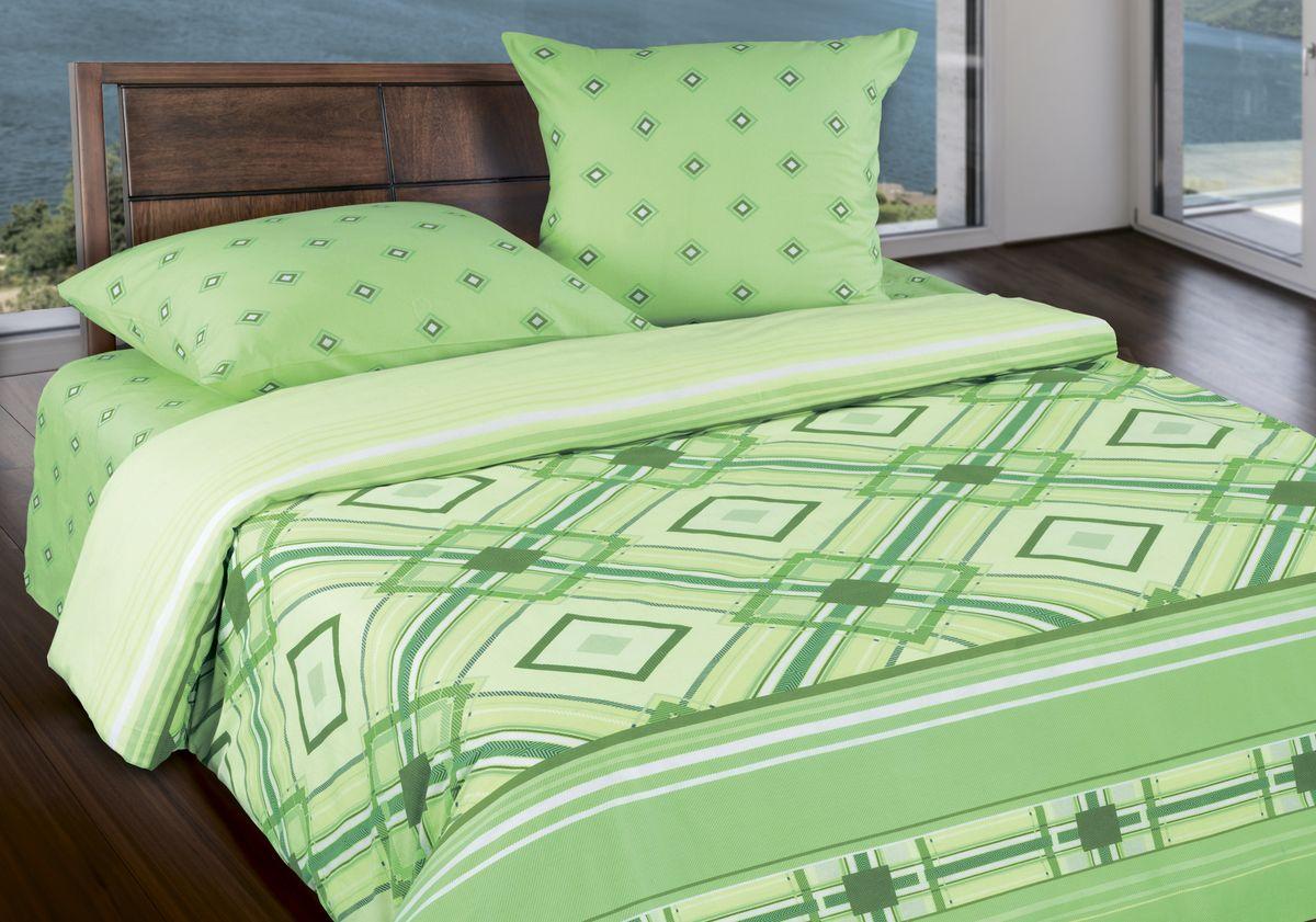 Комплект белья Wenge Darlas , 1,5 спальное, наволочки 70 x 70, цвет: зеленый. 287889287889