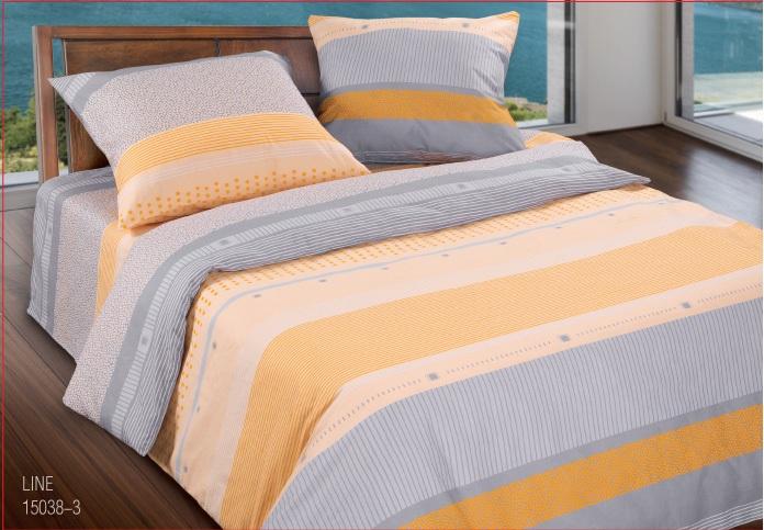 Комплект белья Wenge Line, 1,5 спальное, наволочки 70 x 70, цвет: желтый. 299464299464