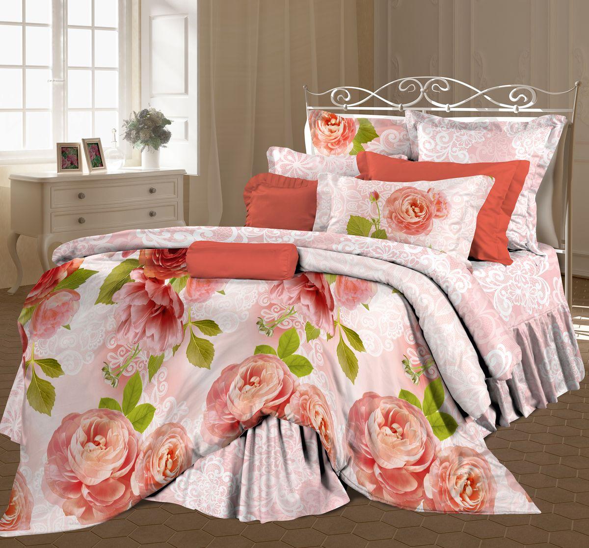 Комплект белья Романтика Свежие бутоны, семейный, наволочки 70 x 70, цвет: розовый. 317959317959
